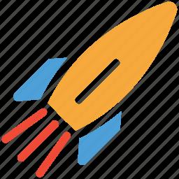 rocket, shuttle, space, spaceship icon