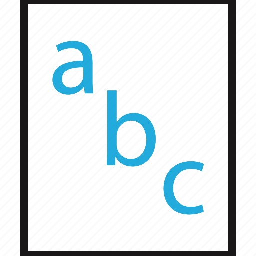 abc, education, homework, online icon