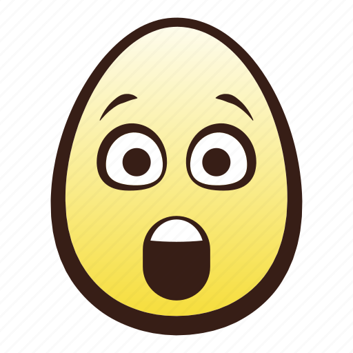 astonished, easter, egg, emoji, face, head icon