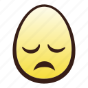 disappointed, easter, egg, emoji, face, head icon