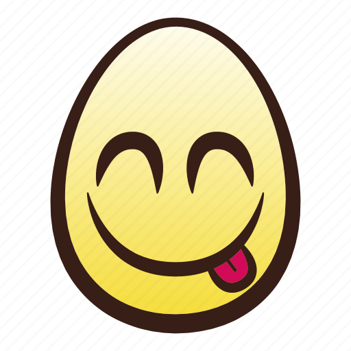 easter, egg, emoji, face, food, head, savouring icon