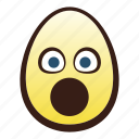 easter, egg, emoji, face, head, mouth, open icon