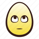 easter, egg, emoji, eyes, face, head, rolling icon