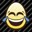 easter, egg, emoji, face, head, joy, tears icon