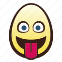 easter, egg, emoji, face, head, tongue icon