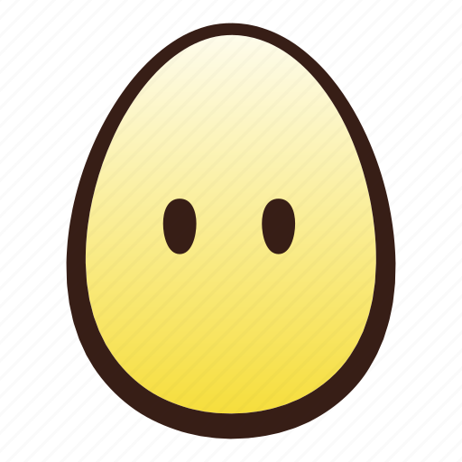 easter, egg, emoji, face, head, mouth, without icon