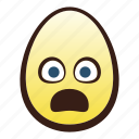 head, egg, face, frowning, mouth, easter, emoji icon