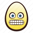 easter, egg, emoji, face, grimacing, head icon