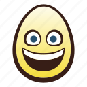easter, egg, emoji, face, grinning, head icon