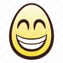 easter, egg, emoji, face, grinning, head, smiling icon