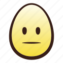 easter, egg, emoji, face, head, neutral icon