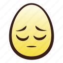 easter, egg, emoji, face, head, pensive icon