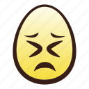 easter, egg, emoji, face, head, persevering icon