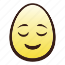 easter, egg, emoji, face, head, relieved icon