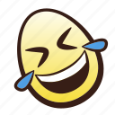 easter, egg, emoji, floor, head, laughing, rolling icon