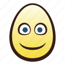 easter, egg, emoji, face, head, slightly, smiling icon