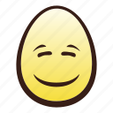 easter, egg, emoji, face, head, smiling icon