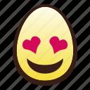 easter, egg, emoji, eyes, head, heart, smiling icon