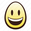 easter, egg, emoji, face, head, mouth, smiling icon