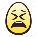 easter, egg, emoji, face, head, tired icon