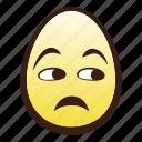 easter, egg, emoji, face, head, unamused icon