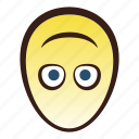 down, easter, egg, emoji, face, head, upside icon