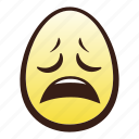 easter, egg, emoji, face, head, weary icon