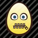 easter, egg, emoji, face, head, mouth, zipper icon