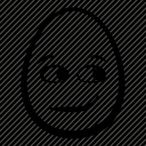 easter, egg, emoji, face, head, smirking icon