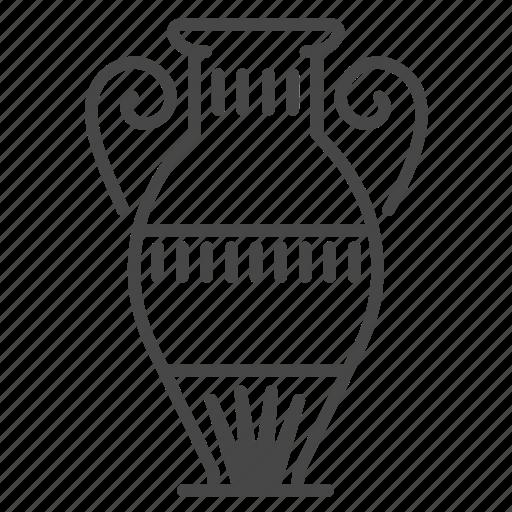 ancient, egypt, egyptian, jar, vase icon