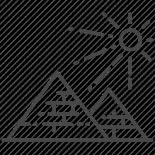 ancient, cairo, desert, egypt, pyramid icon