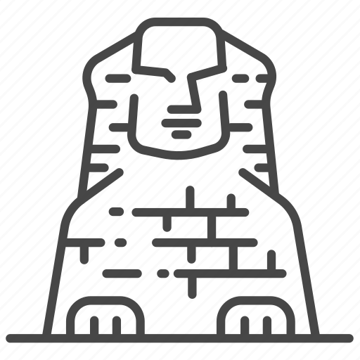 ancient, egypt, egyptian, giza, sphinx icon