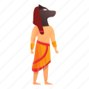 dog, egypt, head, man, ornament