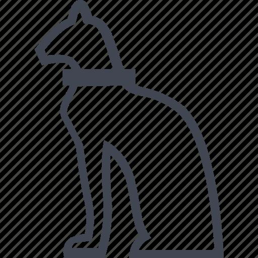 cat, culture, egyptian, slave icon