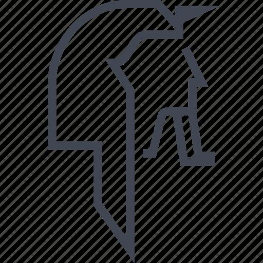 egyptian, hieroglyphs, king, pharoh icon