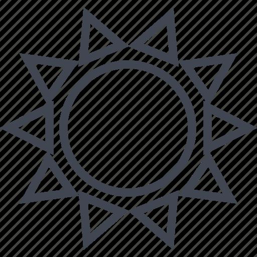 egyptian, hieroglyphs, hot, shine, sun icon