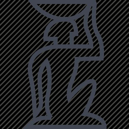 egyptian, hieroglyphs, server, slave icon