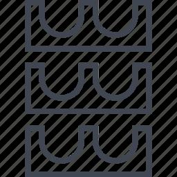 egyptian, hieroglyphs, hooks, three icon