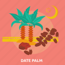 date, eid, fruit, islam, palm, ramadan, religion icon