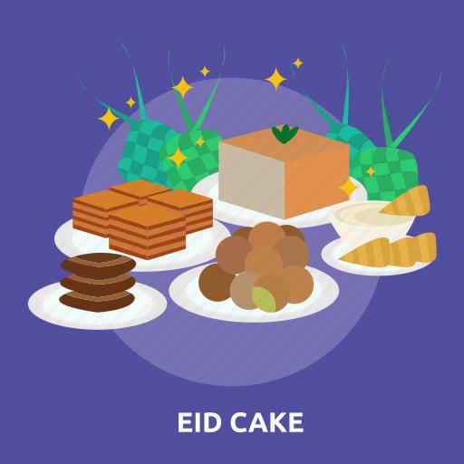 cake, eid, food, islam, ramadan, religion, snack icon