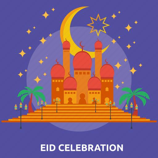 celebration, eid, islam, mosque, prayer, ramadan, religion icon