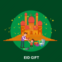 eid, family, gift, islam, mosque, ramadan, religion icon