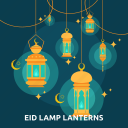 eid, islam, lamp, lanterns, light, ramadan, religion icon