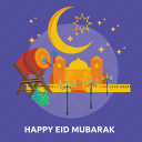 eid, happy, islam, mosque, mubarak, ramadan, religion icon