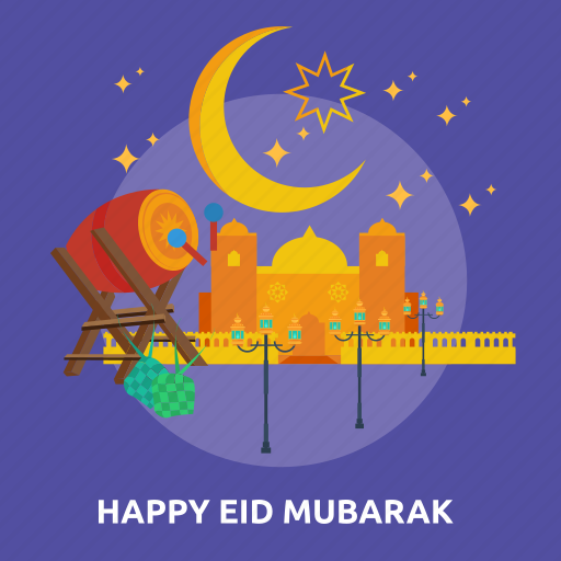 eid, happy, islam, mosque, mubarak, ramadan, religion icon