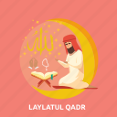 eid, islam, laylatul, pray, qadr, ramadan, religion icon