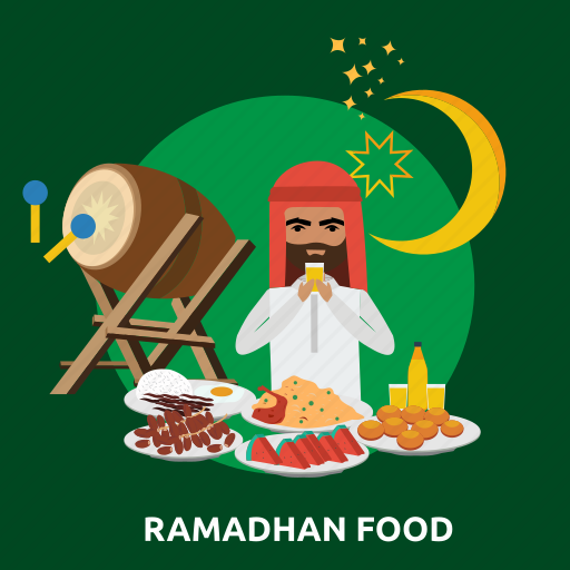 eid, fasting, food, islam, muslim, ramadan, religion icon