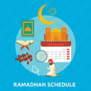 eid, fasting, islam, mosque, ramadan, religion, schedule icon