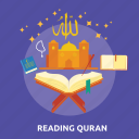 eid, islam, mosque, quran, ramadan, read, religion icon