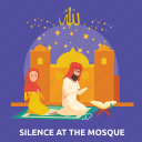 eid, islam, mosque, pray, ramadan, religion, silence icon